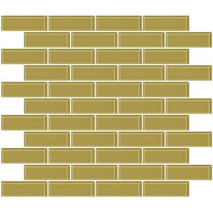 1 X 3 Gl Subway Tile In Glossy Light Olive Green