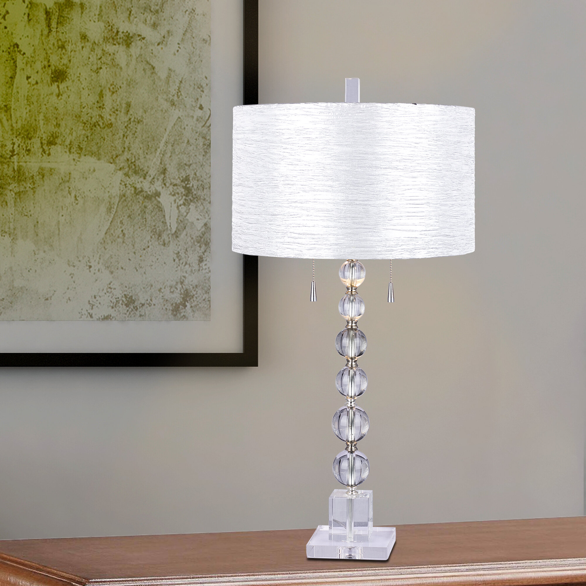 House of hampton harpswell clear stacked crystal ball 34 table lamp house of hampton harpswell clear stacked crystal ball 34 table lamp wayfair aloadofball Images