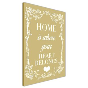 Home Welcoming Quote Typography On Wred Canvas In Mustard Yellow