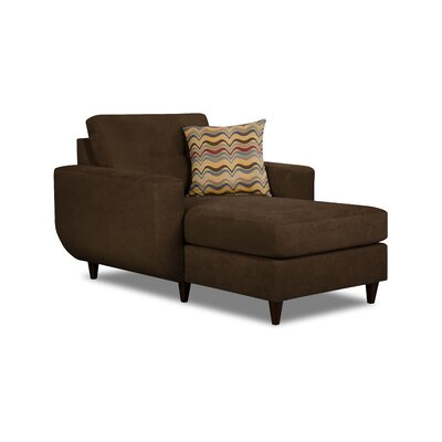 Brayden Studio Gudino Chaise Lounge by Simmons Upholstery Upholstery: Chocolate