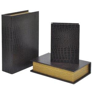 Wood 3 Piece Book Box Set