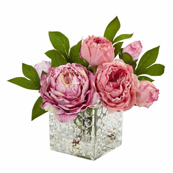 225 & Peony Floral Arrangements in Decorative Vase
