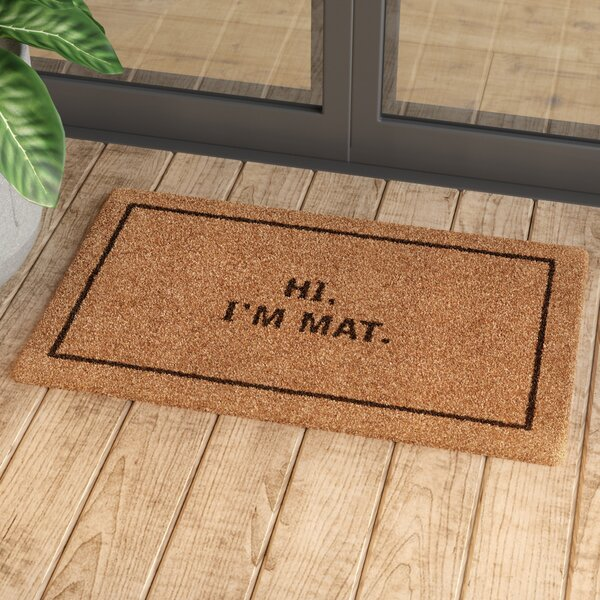 Mercury Row Ursae Hi I M Mat Doormat Amp Reviews Wayfair Ca