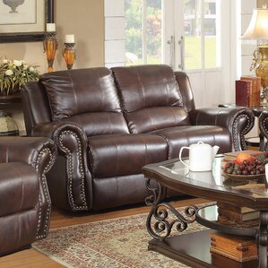 Leather Motion Reclining Loveseat by Wildon Home ?