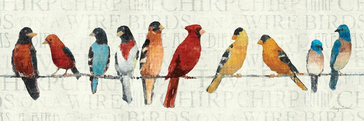 The Usual Suspects Birds On A Wire Wall Art On Wrapped Canvas