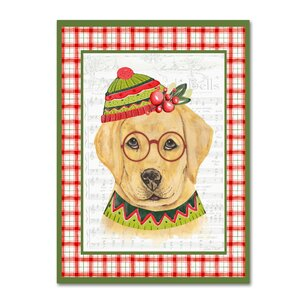 'Christmas Song Dogs 2' Graphic Art Print on Wrapped Canvas