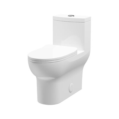 A&E Bath and Shower Laura 1.2 GPF Elongated One-Piece Toilet (Seat Included)