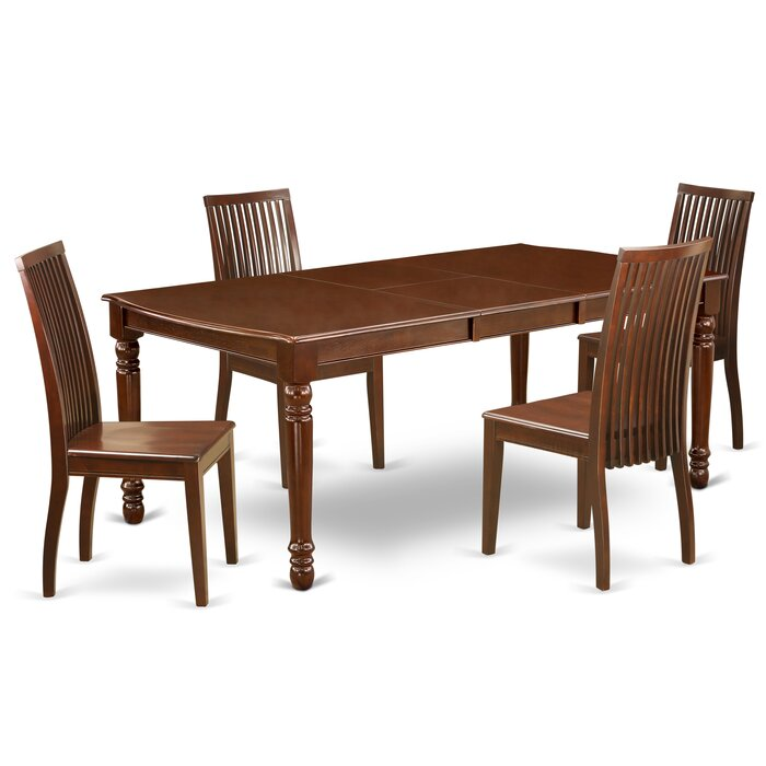 Incredible Josefina 5Pc Rectangle 60 78 Inch Dining Room Table And 4 Wood Seat Dining Chairs Bralicious Painted Fabric Chair Ideas Braliciousco