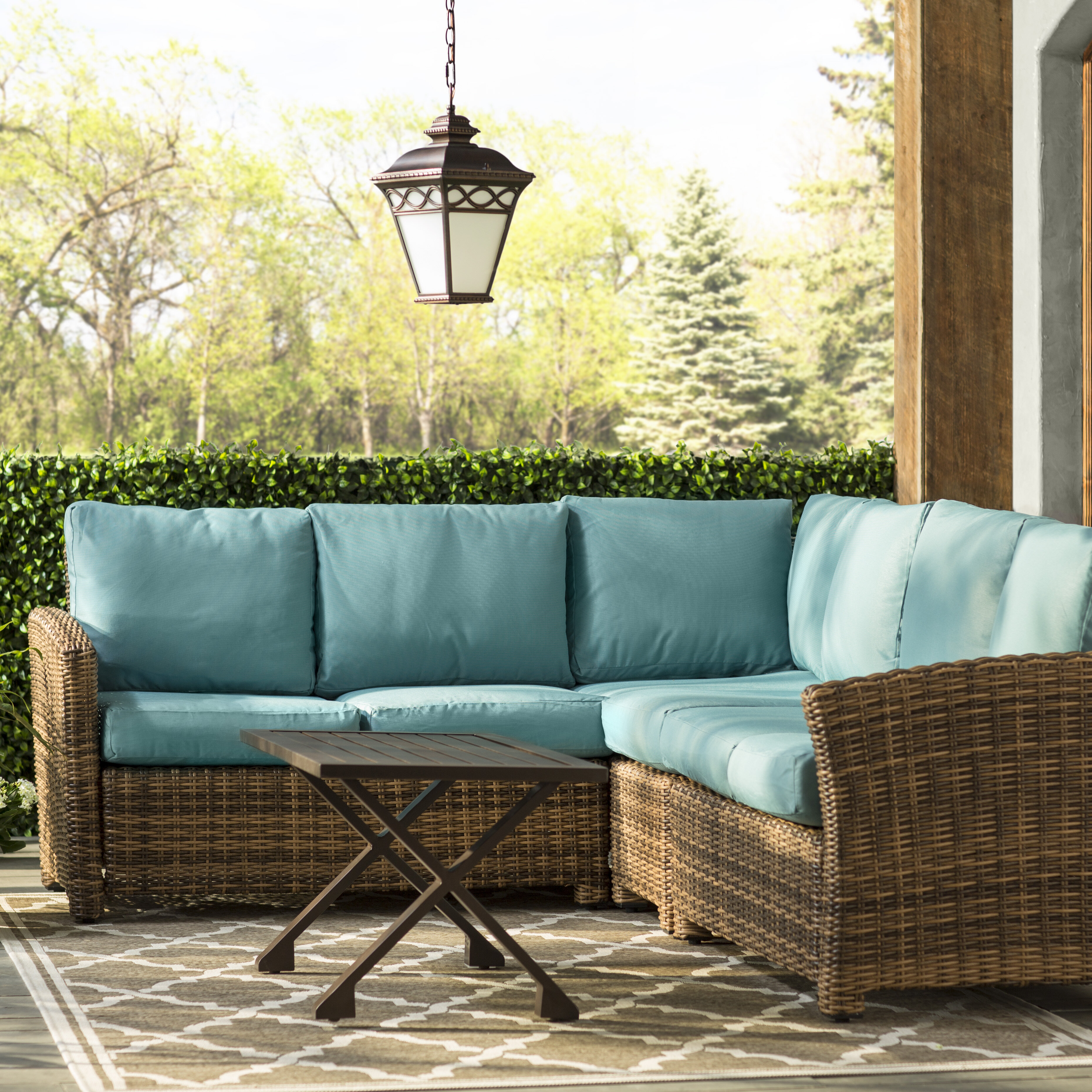 Darby Home Co Coast 11 Piece Rattan Sectional Seating
