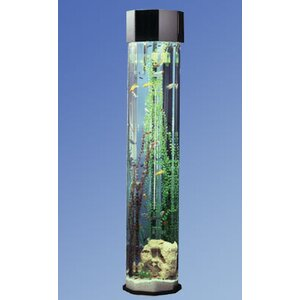 Aqua 55 Gallon Tower Octagon Aquarium Kit