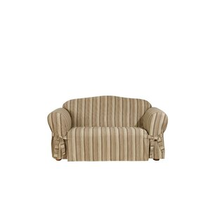 Harbor Stripe Box Cushion Loveseat Slipcover by Sure Fit