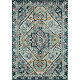 Bungalow Rose Lorenz Blue Brown Area Rug Wayfair