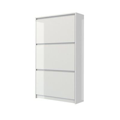 Ebern Designs 16-Pair Shoe Storage Cabinet