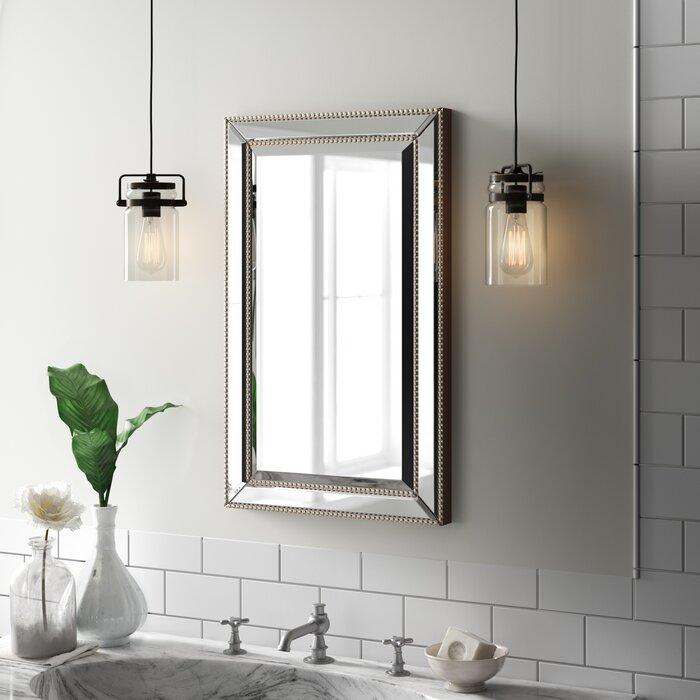 Phenomenal Weslaco Beaded 16 X 26 Recessed Framed Medicine Cabinet With 3 Adjustable Shelves Download Free Architecture Designs Licukmadebymaigaardcom