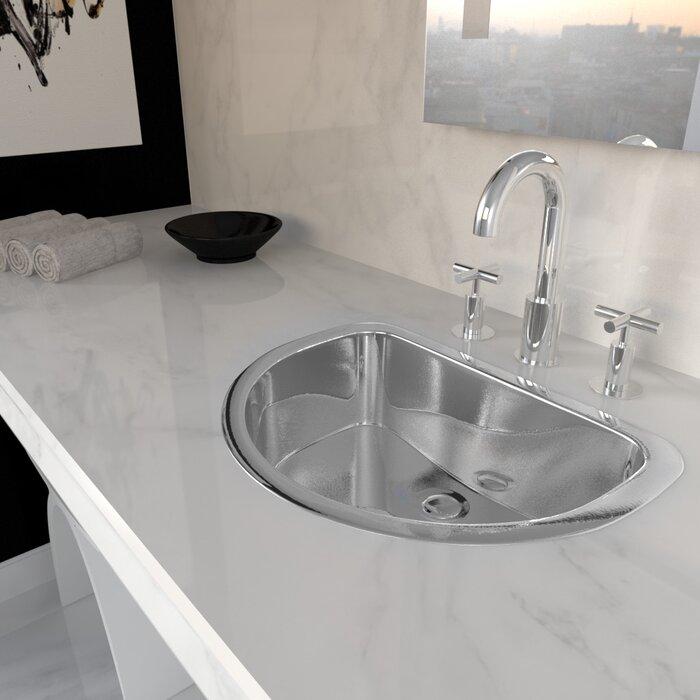 Stainless Steel Bathroom Sinks. Stainless Steel Oval Drop In Bathroom Sink Valley Acrylic Ltd