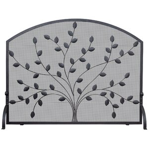 Single Panel Wrought Iron Fireplace Screen