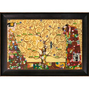 Delightful The Tree Of Life, Stoclet Frieze By Klimt Framed Hand Painted Oil On Canvas