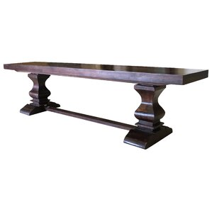 Maliyah Pedestal Wood Bench by Longshore Tides