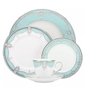 Elegant 48 Piece Dinnerware Set Service for 8  sc 1 st  Wayfair : custom plastic dinnerware - pezcame.com