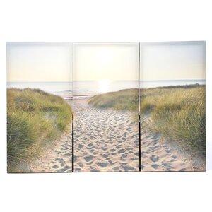 Lake Clarke Beach Walk 3 Piece Photographic Print on Wrapped Canvas Set