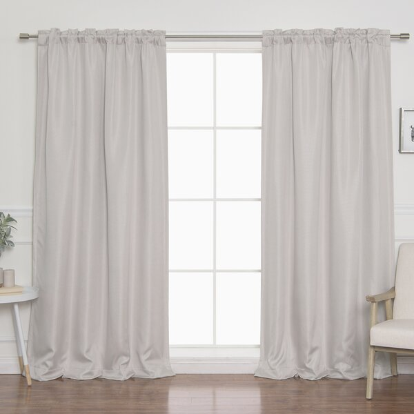 Lace Curtains And How To Clean Them Properly Back Tab Blackout Curtains | Wayfair