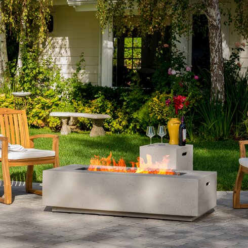 Charming Salta Stone Propane Fire Pit Table