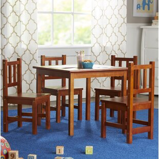 Kayli Kids 5 Piece Table and Chair Set : kids dining table and chair set - pezcame.com