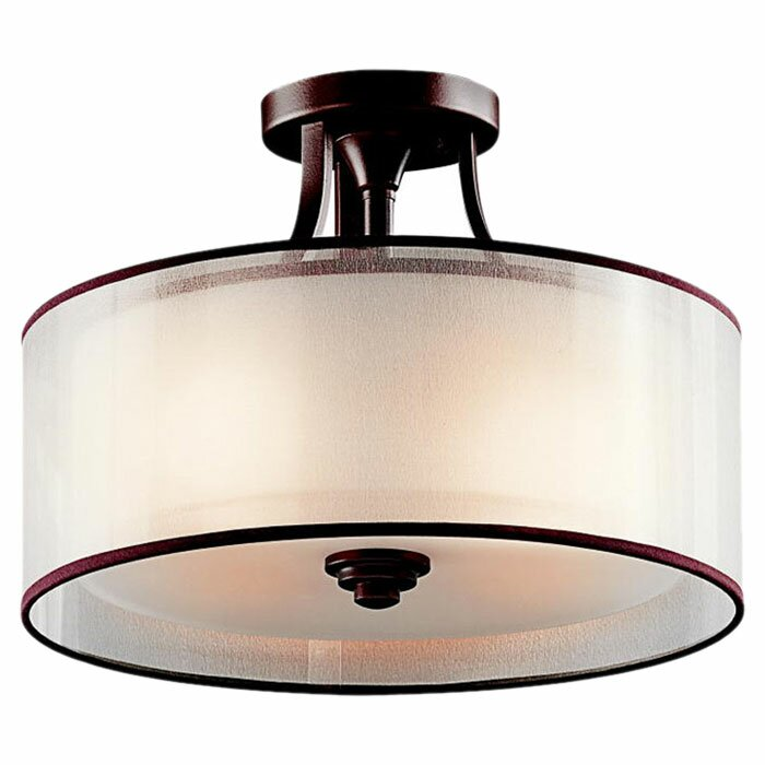 Darby Home Co Boswell 3 Light Semi Flush Mount Reviews