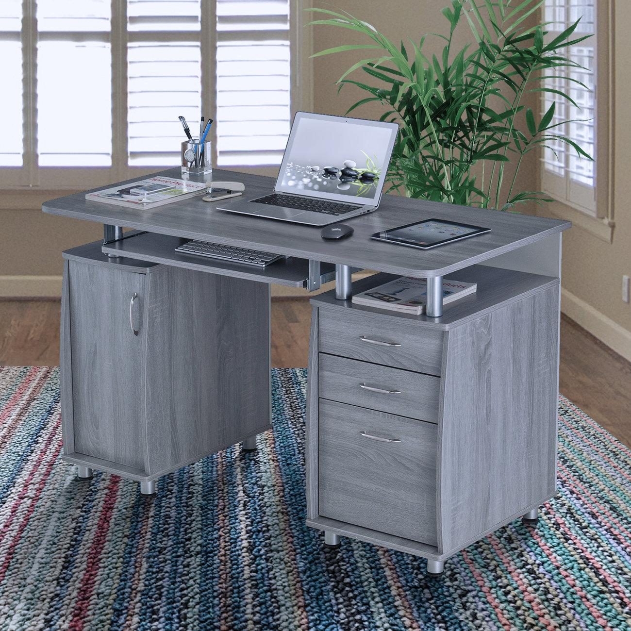 a81003fcfda Zipcode Design Harris Solid Wood Computer Desk   Reviews