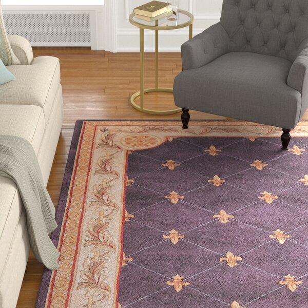 Astoria Grand Totternhoe Fleur De Lis Grape Rug U0026 Reviews | Wayfair