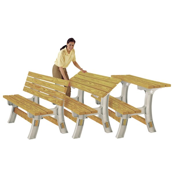 Amazing Garden Bench Table Part - 8: Symple Stuff FlipTop Plastic Garden Bench Table Kit U0026 Reviews | Wayfair