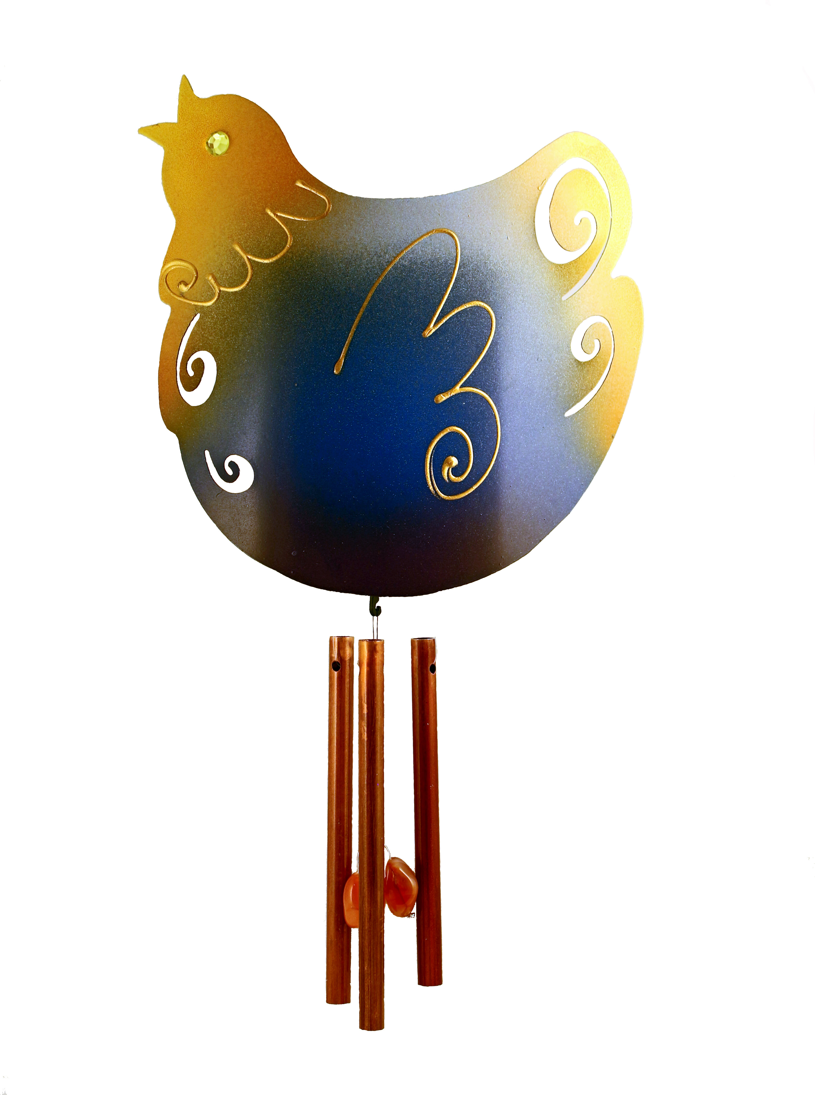 Funky Feathered Friends Solar Ed Indoor Wind Chime
