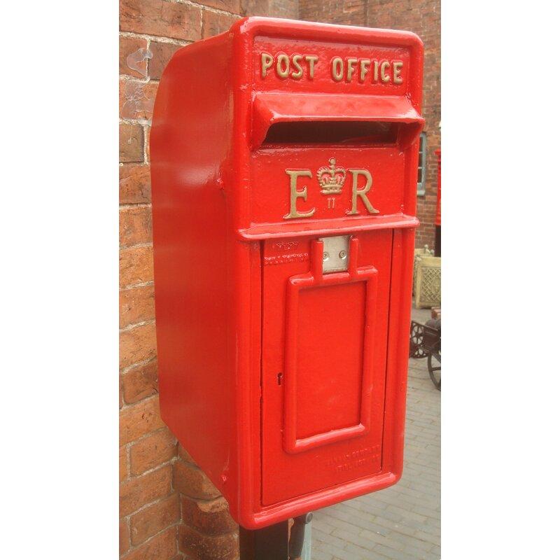 Blackbrook Replica Royal Locking Post Mounted Letter Box