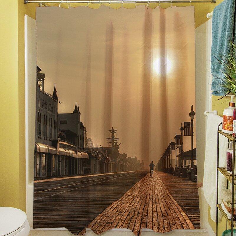 Boardwalk Sunrise Shower Curtain