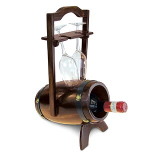 Zosia Wooden 1 Bottle Tabletop Wine Bottle Rack