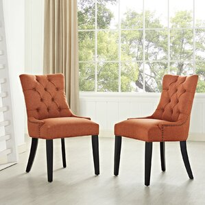 orange kitchen & dining chairs you'll love | wayfair