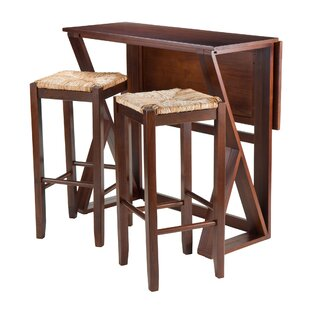 Brayan 3 Piece Drop Leaf Dining Set