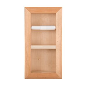 solid wood in bathroom vertical mount wall hugger double recessed toilet paper holder