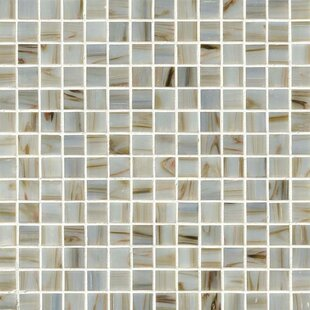 0 75 X Gl Mosaic Tile In Ivory Iridescent