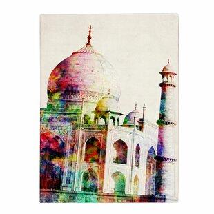 u0027Taj Mahalu0027 by Michael Tompsett Graphic Art on Canvas  sc 1 st  Wayfair & Taj Mahal Wall Art   Wayfair