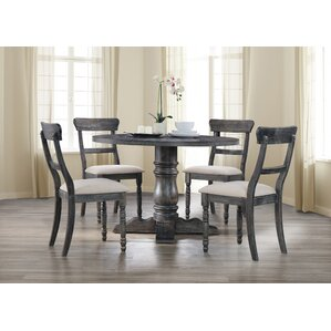 Rosecliff Heights Kinsey 5 Piece Dining Set with Upholstered ...