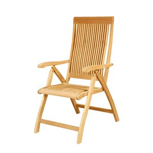 Teak Folding Chair folding patio dining chairs | wayfair