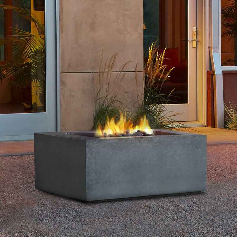 Good Baltic Square Fire Pit Table