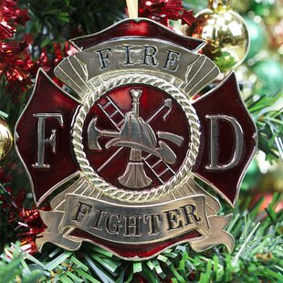 Firefighter Heroes Series Holiday Ornament Hanging Figurine