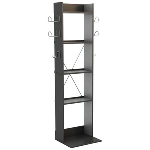 Game Central Tall Multimedia Storage Rack by Rebrilliant