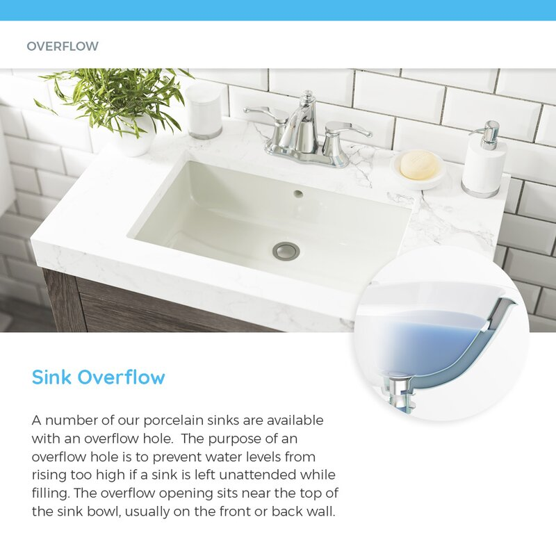 Mrdirect Vitreous China Oval Undermount Bathroom Sink With Overflow