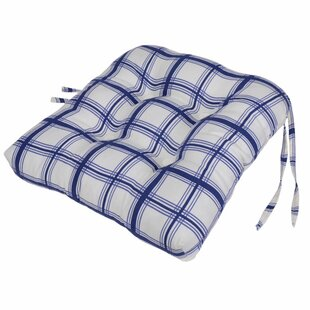 Exceptionnel Large Scale Plaid Cushioned Chair Pad In Blue