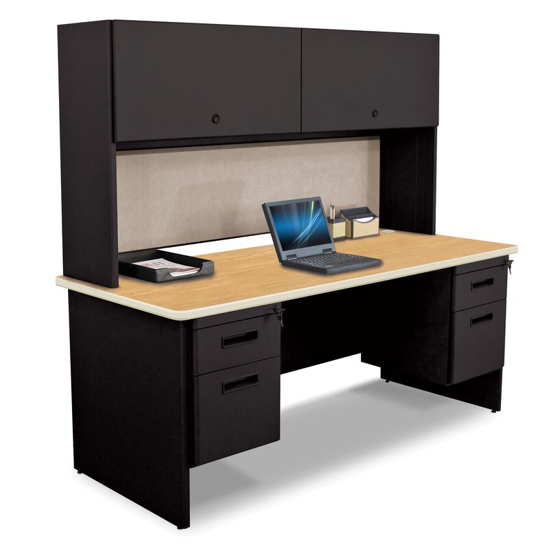 pronto flipper door cabinet computer desk with hutch