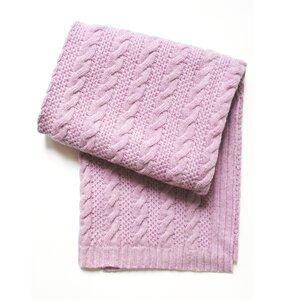 Cable Knit Wool Blend Baby Blanket