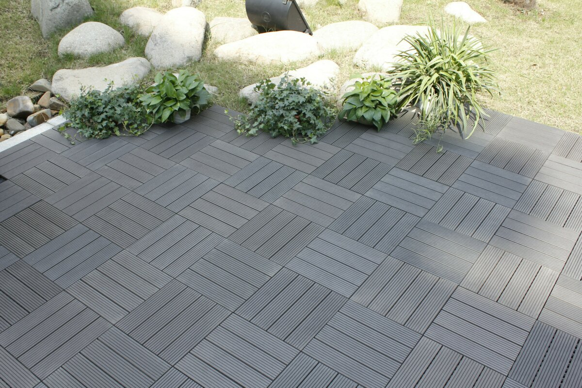 Naturesort bamboo composite 12 x 12 deck tiles in grey reviews bamboo composite 12 x 12 deck tiles dailygadgetfo Choice Image